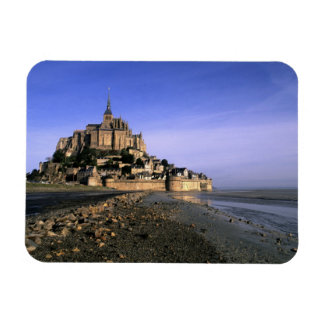 Famous Le Mont St. Michel Island Fortress in Rectangular Photo Magnet
