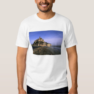 Famous Le Mont St. Michel Island Fortress in T-shirts