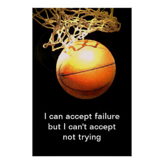 Famous Motivational Quote Basketball Print