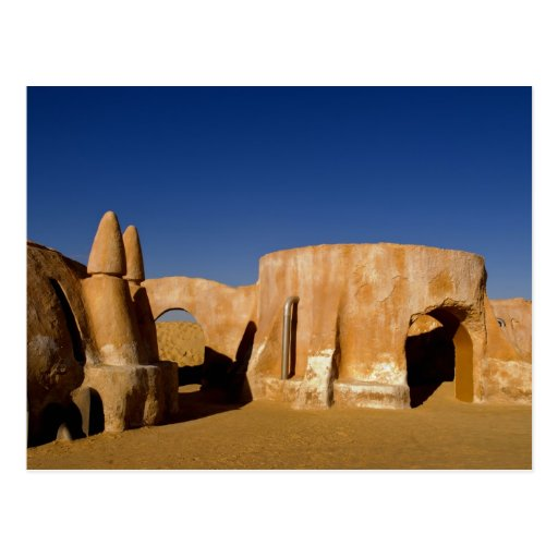 Famous movie set of Star Wars movies in Sahara Post Card