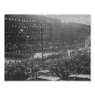 Famous New York soldiers return home Art Photo