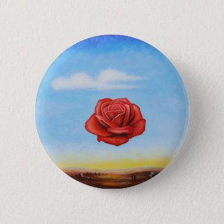 famous paint surrealist rose from spain 6 cm round badge