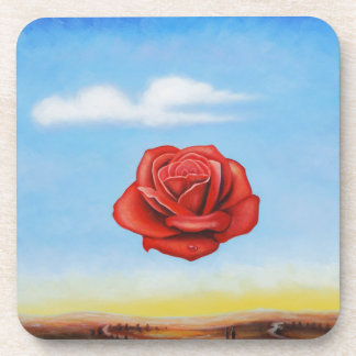 famous paint surrealist rose from spain coaster