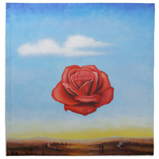famous paint surrealist rose from spain napkin
