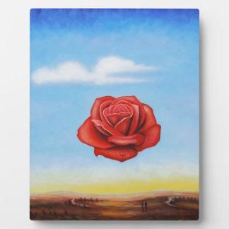 famous paint surrealist rose from spain plaque
