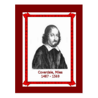 Famous people, Miles Coverdale 1487 - 1569 Postcard
