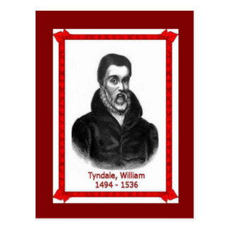 Famous people, William Tyndale 1494-1536 Postcard