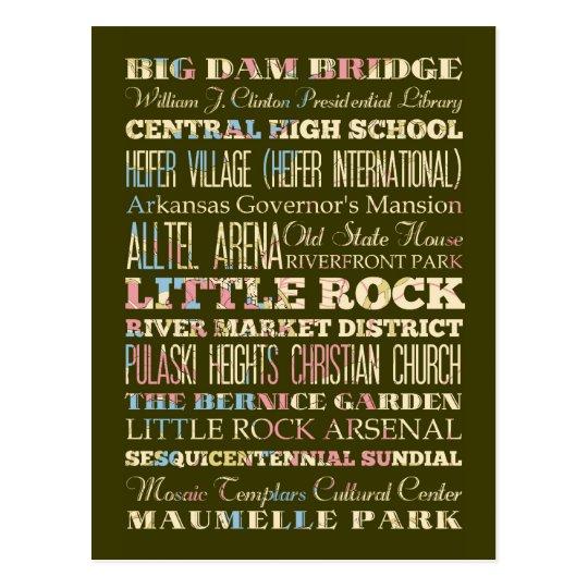 Famous Places of Little Rock, Arkansas. Postcard