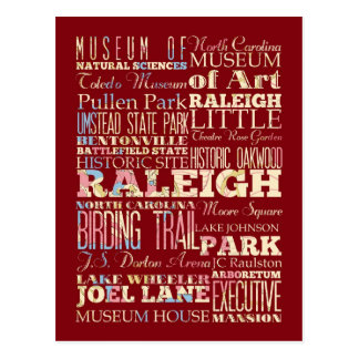 Famous Places of Raleigh, North Carolina. Postcard
