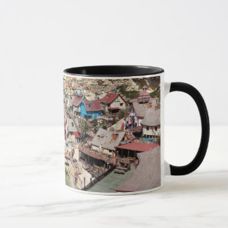 Famous Popeye village with colorful houses, Malta Mug