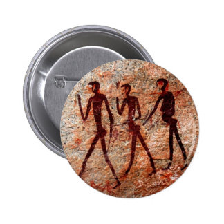 Famous Pre-historic Ancient Cave Paintings Buttons