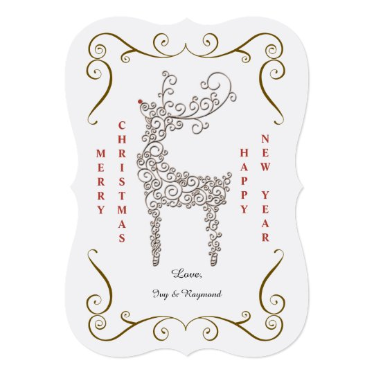 Famous Reindeer Holiday Card