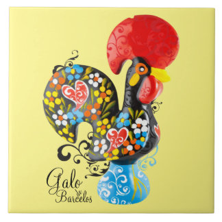 Famous Rooster of Barcelos #06 - Floral edition Ceramic Tile