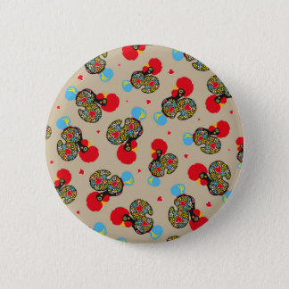 Famous Rooster of Barcelos Nr 06 Pattern 6 Cm Round Badge