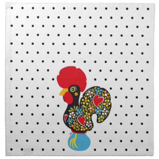 Famous Rooster of Barcelos Nr 06 - Polka Dots Napkin