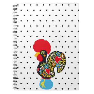 Famous Rooster of Barcelos Nr 06 - Polka Dots Notebooks