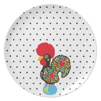 Famous Rooster of Barcelos Nr 06 - Polka Dots Plate