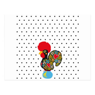 Famous Rooster of Barcelos Nr 06 - Polka Dots Postcard
