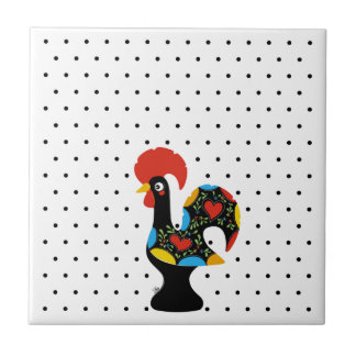 Famous Rooster of Barcelos Nr 09 - Polka Dots Tile