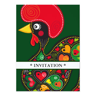 Famous Rooster of Barcelos Nr 2 5.5x7.5 Paper Invitation Card