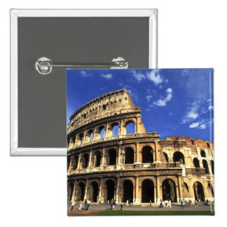 Famous ruins of the Coliseum in Rome Italy 15 Cm Square Badge