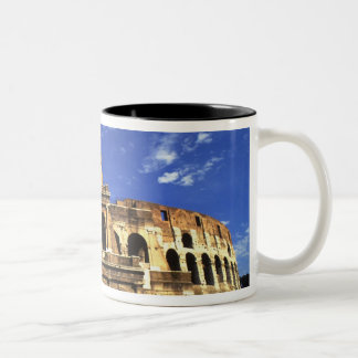 Famous ruins of the Coliseum in Rome Italy Two-Tone Coffee Mug