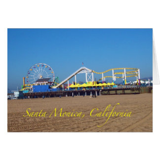 Famous Santa Monica, California Pier Ferris Wheel Greeting Cards