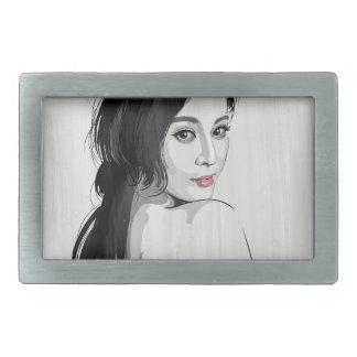 Fan Bing Bing Rectangular Belt Buckle