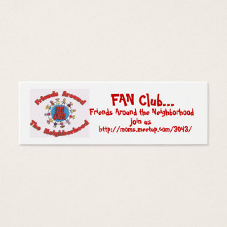 FAN Club Calling Cards - Customized