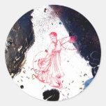 """""""Fan Dancer Detail"""" Round Sticker"""