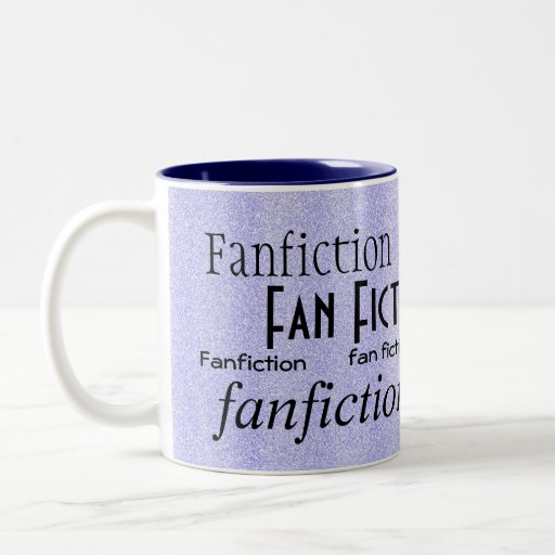 """Fan Fiction Fanatic"" - Blue/White Coffee Mugs"