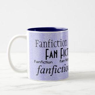 """""""Fan Fiction Fanatic"""" - Blue/White Two-Tone Mug"""