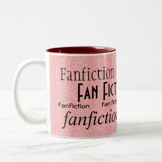 """""""Fan Fiction Fanatic"""" Two-Tone Mug"""