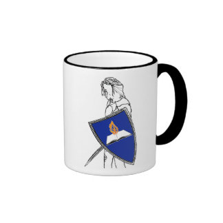 Fan Fiction Warrior Blue Shield Mug