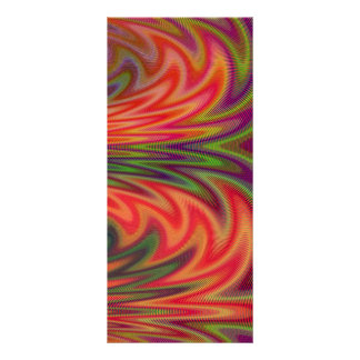 Fan of Colors Abstract Custom Rack Cards