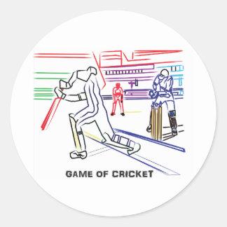 Fan of games of Cricket Round Sticker