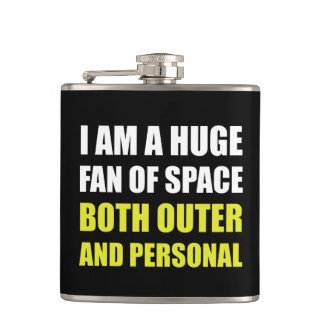 Fan Of Space Outer And Personal Hip Flask