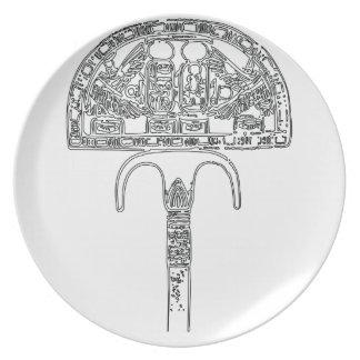 Fan of Tutenkhamun Outline Plate