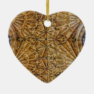 Fan Vaulted Ceiling Ceramic Heart Decoration