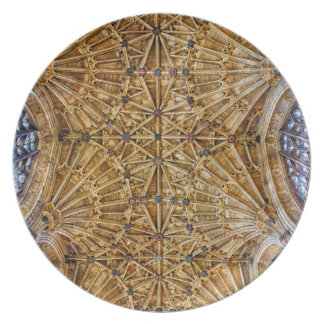 Fan Vaulted Ceiling Dinner Plate