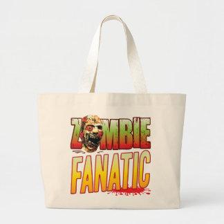 Fanatic Zombie Head Tote Bags