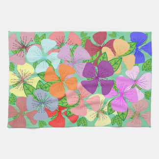 Fanciful Floral Tea Towel