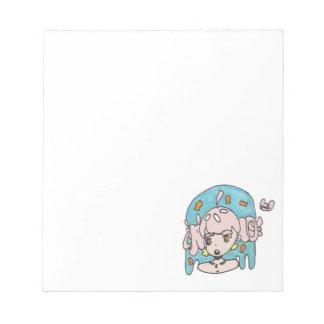 Fanciful goldfish girl notepad