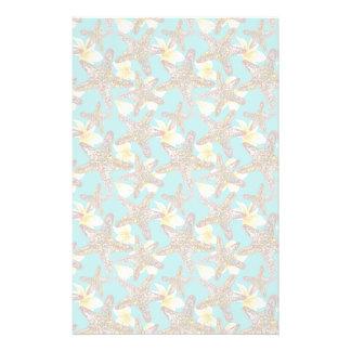 Fanciful Starfish Pattern Stationery