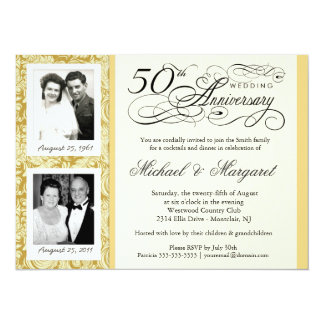 Fancy 50th Anniversary Invitations - Your Photos