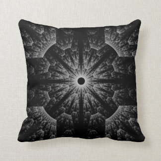 Fancy Abstract Geometric Pillow in Black & White