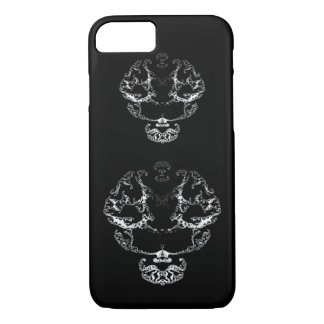 Fancy abstract human skull iPhone 7 case