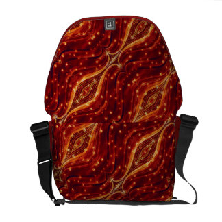 Fancy Abstract Pattern Rickshaw Messenger Bag