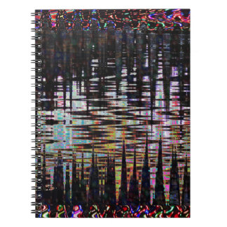 Fancy Abstract Wave Print Template  add text image Notebook