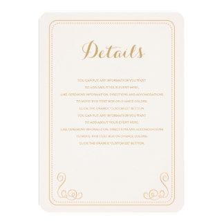 Fancy Affair Wedding Insert Card - Blush & Gold 11 Cm X 16 Cm Invitation Card